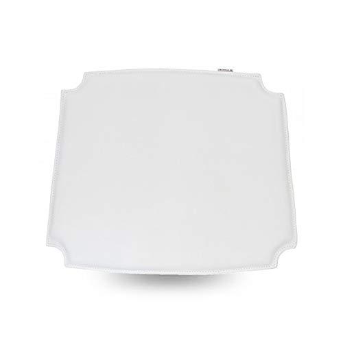 - MJ Design Wishbone Chair seat pad PU (Bicast Leather) (4, White)