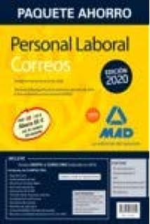 Paquete Ahorro Personal Laboral Correos 2020. Ahorra 65 € incluye Temarios 1 y 2; Test; Simulacros de Examen 1 y 2; Psicotécnico y acceso a Curso Oro: Amazon.es: VV.AA.: Libros