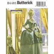 BUTTERICK B4485 MAKING HISTORY 18TH CENTURY COURT DRESS, MARIE ANTOINETTE COSTUME-TOP, SKIRT & UNDERSKIRT SEWING PATTERN MISSES' SIZE: AA - Pattern Marie Dress Antoinette