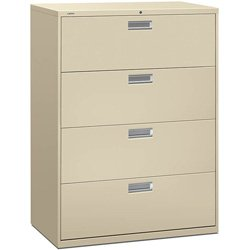 Suite Armoire - HON 694LL 600 Series 42-Inch by 19-1/4-Inch 4-Drawer Lateral File, Putty