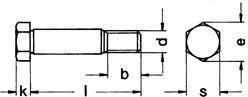 Short Thread Heat Treated Alloy Steel 10 pcs Metric DIN 610 M8X25 Hexagon Head Shoulder Bolt