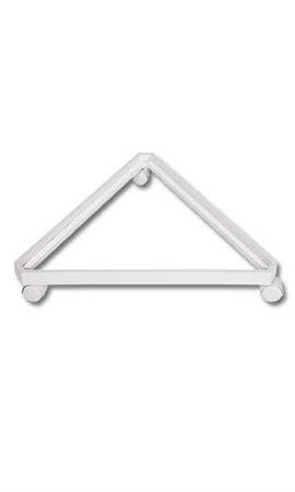 """White Triangle Grid Base with Casters (Use with existing 3"""" on Center Wire Grid Panels)"""