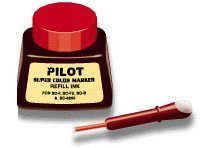 (12 Pack Pilot Pen 43700 1oz Refill Ink for Permanent Markers - Red (SCRF-RED) by Pilot Pen)
