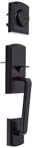 Delaney Hardware 374004CN Visconti Handlesest, Single Cylinder Handleset, Black