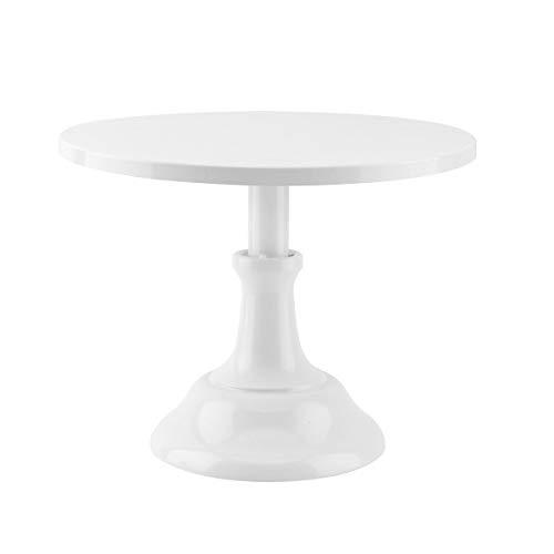 White Round Cake Standround White Cake Stand With Ribbon