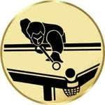 Sportland Pokal//Medaille Emblem S.B.J Durchmesser 50 mm Durchmesser Motiv Pool-Billard