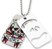 Ed Hardy Dog Tag 2-Piece Death & Glory EHF101 [Jewelry] Ed Hardy