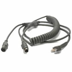 - Cable Universal Style Keyboard Wedge 9' Coiled (Part#: CBA-K02-C09PAR ) - NEW