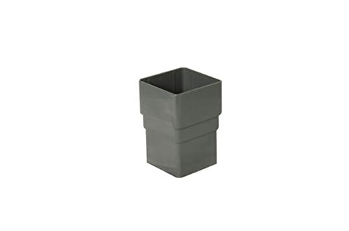 FloPlast 65mm Square Pipe Socket Anthracite Grey