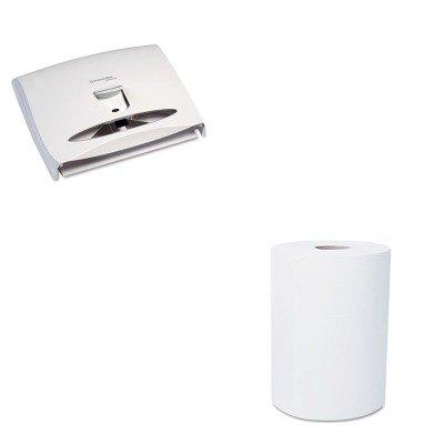 KITKIM09505KIM12388 - Value Kit - KIMBERLY CLARK SCOTT SLIMROLL Hard Roll Towels (KIM12388) and Kimberly Clark 09505 WINDOWS Series-i Personal Seats Toilet Seat Cover Dispenser (KIM09505)