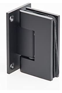 mont hard wall to glass square corner shower hinge in oil rubbed bronze finish for frameless