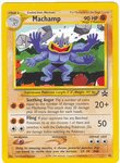 Pokemon Machamp Black Star Promo Card # 43 from The Pok?mon TCG League 2/02