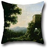 [Oil Painting Claude Gellée, Called Claude Lorrain - Pastoral Landscape Pillow Covers 16 X 16 Inches / 40 By 40 Cm Gift Or Decor For Office,kids Girls,bar,saloon,study Room,girls - Each] (Red Crayon Tank Dress Costume)