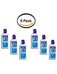 PACK OF 6 - ACT Total Care Dry Mouth Anticavity Soothing Mint Fluoride Mouthwash, 18oz by ACT