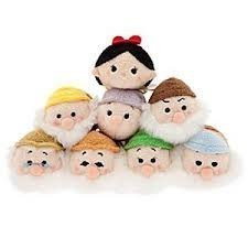 Tsum Tsum Mini Plush 8pc Set: Snow White and the Seven Dwarf