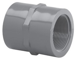 4inch Schedule 80 Gray PVC Threaded Coupling