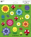 Cheerful Flowers and Butterflies Scrapbook Stickers (SS5071)