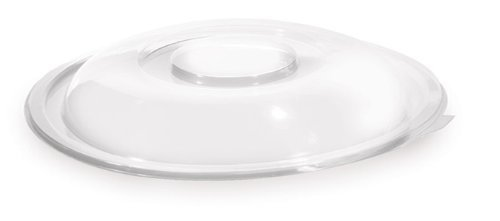 Super Bowl Plastic Clear Bowl Flat Lid 160 oz. Clear by super bowl