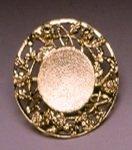 Tear Bottle Accessory - Gold Plated Filigree Rim Display Tray - Filigree Rim