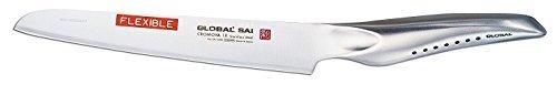 Global SAI-M05 Flexible Utility Knife, 6-1/2'', Silver