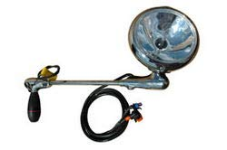 2002 UD 3000 Post mount spotlight - 6 inch - 35W HID - Driver side WITH install kit