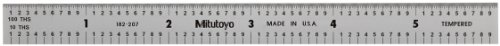 Ruler Flexible Scale - Mitutoyo 182-207, Steel Rule, 6