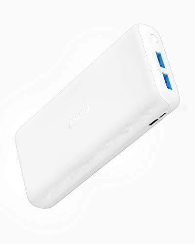 Anker PowerCore Lite 20000mAh Portable Charger, Ultra-High Capacity 4.8A Output Power Bank, External Battery (White)