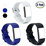 Charge 2 Fitbit Bands, Hotodeal Classic Silicone Replacement Watchband Accessory, Colorful Band Design with Adjustable Metal Clasp for Fitbit Charge 2 Fitness Band