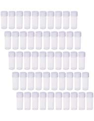 (BCP 50Pcs 5ML Plastic Sample Small Bottle Vial Storage Vial Storage Container Test Tube for Lab)