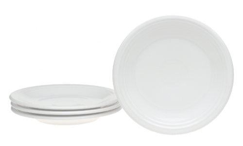 Fiesta 7-1/4-Inch Salad Plates, Set of 4, White (Salad Plate Size Fiestaware)