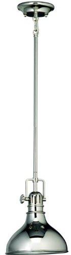 Kichler 2664PN Mini Pendant 1-Light, Polished Nickel