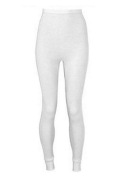 Indera - Womens Plus Size Thermal Long John Pant 5000DRX, White (Plus Size Thermal Underwear)