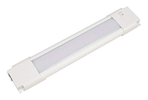 """Sylvania 72275 9"""" Convertible Under Cabinet Light, Hardwire or Plug-in, Linkable Undercabinet, White"""