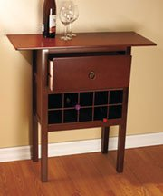 Wooden Wine Storage Console Table