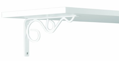 John Sterling Iron Daisy Style Decorative Shelf Bracket, 8-Inch, Warm White, RP-0088-8WT