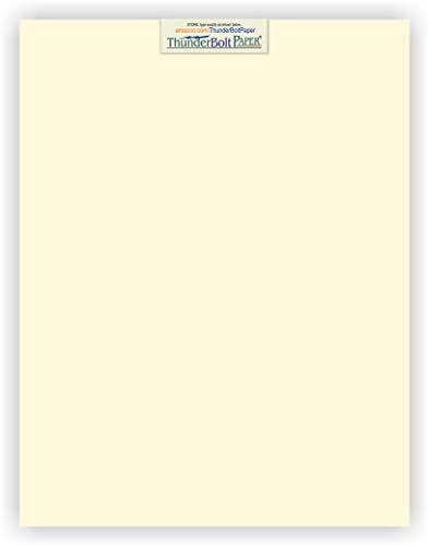 25 Natural Smooth Card Stock Sheets Paper - 11
