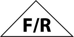 Alum Triangle - NMC TBSFR TRUSS BUILDING SIGN, FLOOR/ROOF, 6X12 TRIANGLE, .080 REFLECTIVE ALUM