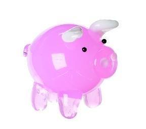 Miniature Glass Pig Figurine