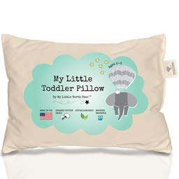 Unisex Toddler Pillow 100/% ORGANIC Cotton HYPOALLERGENIC  WASHABLE made in USA