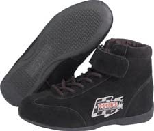 G-Force 0235105BK RaceGrip Black Size 105 Mid-Top Racing Shoes