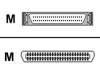 1.5FT SCSI2 Cable HDM50M/CENT50