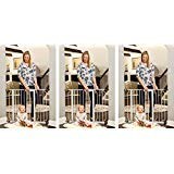 """Regalo Easy Step Walk Thru Gate, White, Fits Spaces Between 29"""" to 39"""" Wide (3-(Pack))"""