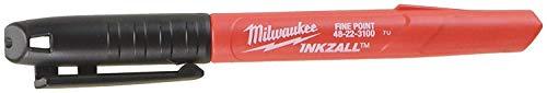 Milwaukee 48-22-3100 Inkzall Jobsite Fine Point Black Permanent Marker (Pack of 48) by Milwaukee Elec Tool (Image #1)