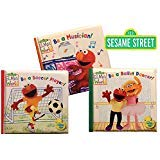 Sesame Street Bath Time Bubble Books: Be a Ballet Dancer!, Be a Soccer Player!, Be a Musician!