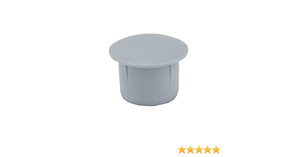 25 piezas tapones para orificios agujeros tapas 16x13 mm blanco capuch/ón Tap/ón ciego Tap/ón de pl/ástico
