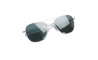 10706 GENUINE GOV'T 52MM A.F. PILOTS POLARIZED SUNGLASSES BY AMERICAN OPTICS (CHROME) by Rothco