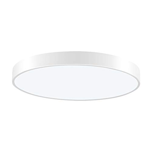 Viugreum LED Flush Mount Ceiling Light, 11.81-inch 20W 1200 Lumens Round Panel Light,6000K (Daylight White) Downlights Lighting Fixture for Kitchen,Hallway,Bathroom,Stairwell