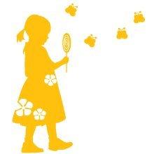 子供壁デカールLola 's Lollipop – CoolWallArt イエロー  イエロー B008RYIOVS
