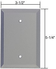CRL Blank Glass Mirror Plate - Gray by C.R. Laurence Crl Blank Glass Mirror Plate