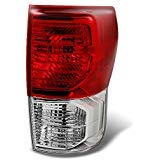 (For Toyota Tundra Pickup Truck Red Clear Tail Light Rear Brake Lamp Replacement Passenger Right)